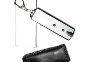 SK2021 2 Led Light, Laser Pointer Key Chain with Pouch