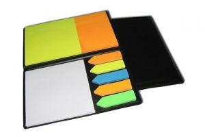 HF012 Self Sticking Note Book w/PU Cover