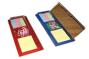 PF229  Ruler with Self Sticking Pad & Memo Clip Color