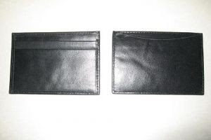LH022L Leather Name Card Holder