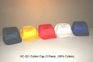HC321 3 Panel 100% Cotton Cap