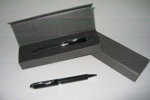 LEB14 Carbon Fiber Ball Pen with Chrome Trims