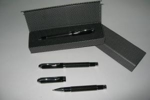 LER14 Carbon Fiber Roller Pen with Chrome Trims