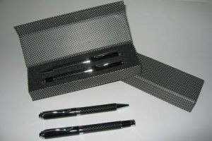 S14 Carbon Fiber Ball & Roller Pen Set with Box + Slevee